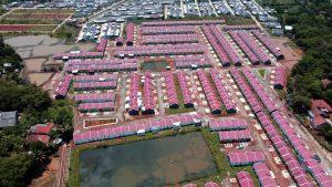 Pemandangan Drone Perumahan Subsidi Pesona Prima Cikahuripan 6
