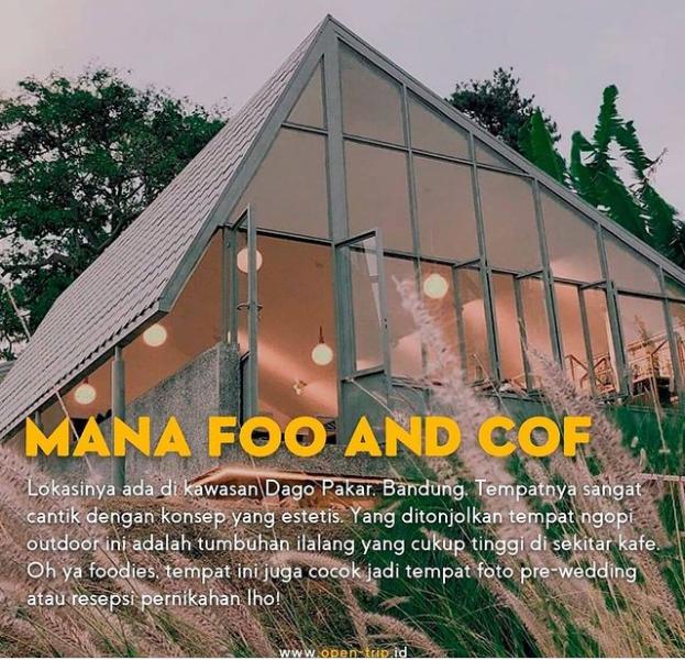 Tempat ngopi di bandung ManA Foo & Cof